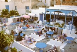 Tunisia, Sidi Bou Said. Cafe des Turcs, a Restaurant, Coffee House.